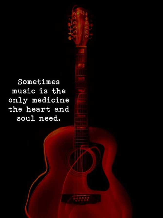 🖋 शेयरचैट Quotes - Sometimes music is the only medicine the heart and soul need . - ShareChat