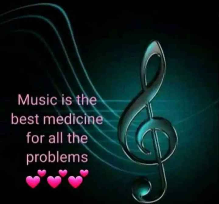 🖋 शेयरचैट Quotes - Music is the best medicine for all the problems - ShareChat