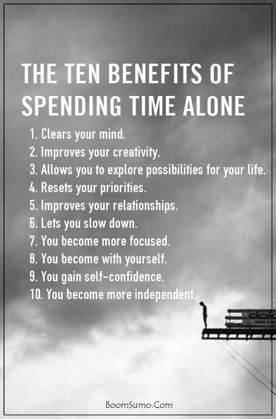 🖋 शेयरचैट Quotes - THE TEN BENEFITS OF SPENDING TIME ALONE 1 . Clears your mind . 2 . Improves your creativity . 3 . Allows you to explore possibilities for your life . 4 . Resets your priorities . 5 . Improves your relationships . 6 . Lets you slow down . 7 . You become more focused . 8 . You become with yourself . 9 . You gain self - confidence . 10 . You become more independent . BoomSumo . com - ShareChat