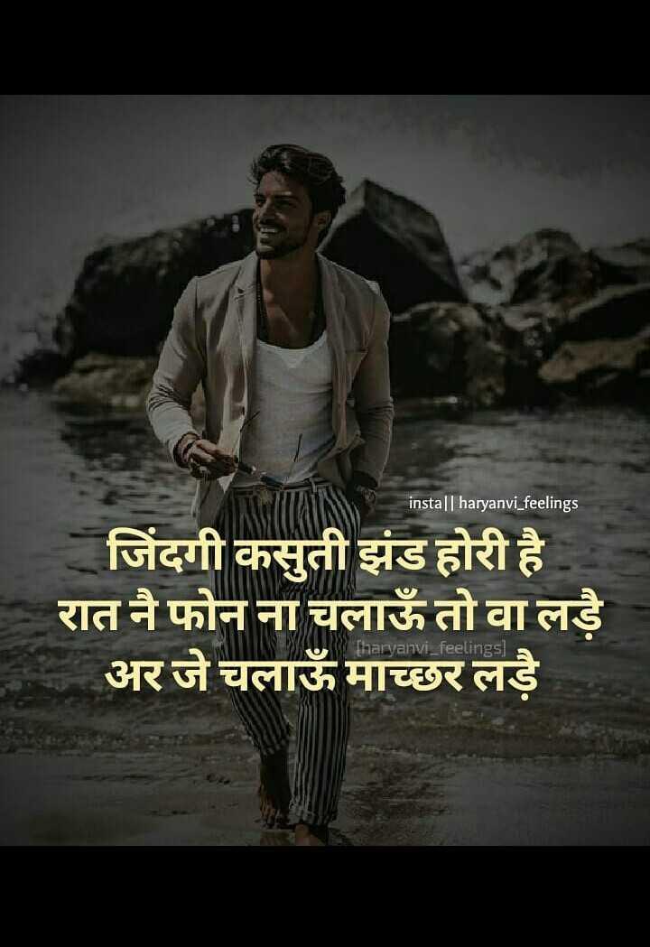 शेयरचैट - insta | | haryanvi _ feelings जिंदगी कसुती झंड होरी है । रात नै फोन ना चलाऊँ तो वा लड़े अर जे चलाउँ माच्छर लड़े [ haryanvi _ feelings ) - ShareChat