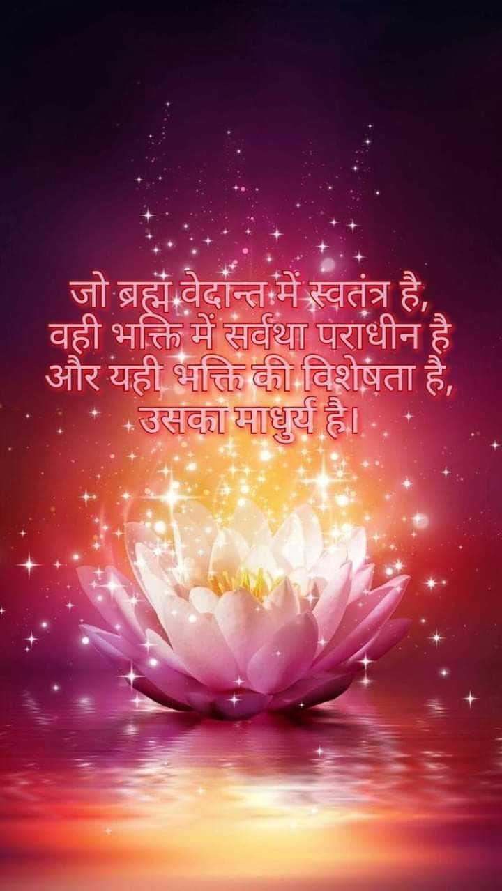श्री राम जी सीता जी - जो ब्रह्म वेदान्त में स्वतंत्र है , वही भक्ति में सर्वथा पराधीन है । और यही भक्ति की विशेषता है , * उसका वधुर्य है । - ShareChat
