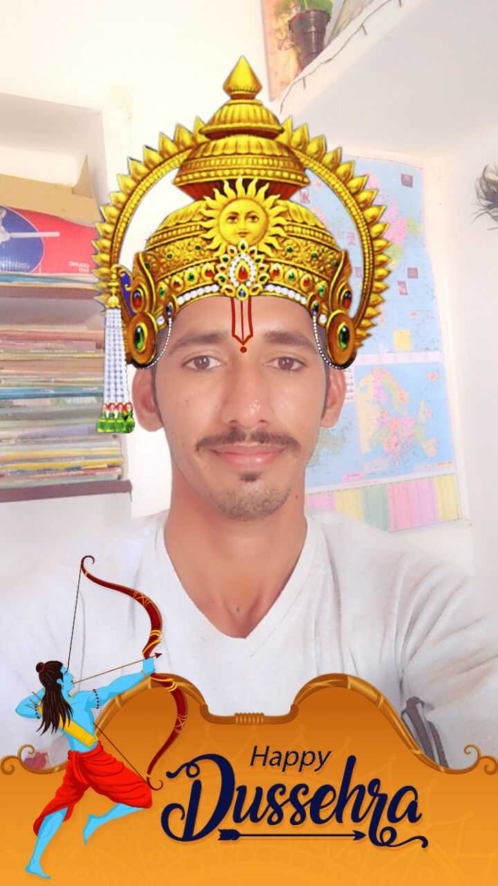 👑 श्री राम मुकुट - Happy Dussehra - ShareChat