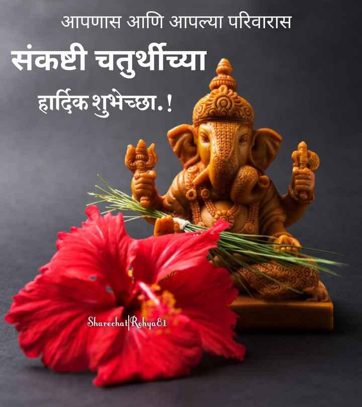 🌺 संकष्टी चतुर्थी - आपणास आणि आपल्या परिवारास संकष्टी चतुर्थीच्या हार्दिक शुभेच्छा . ! 15 Sharechat | Rohya 81 - ShareChat