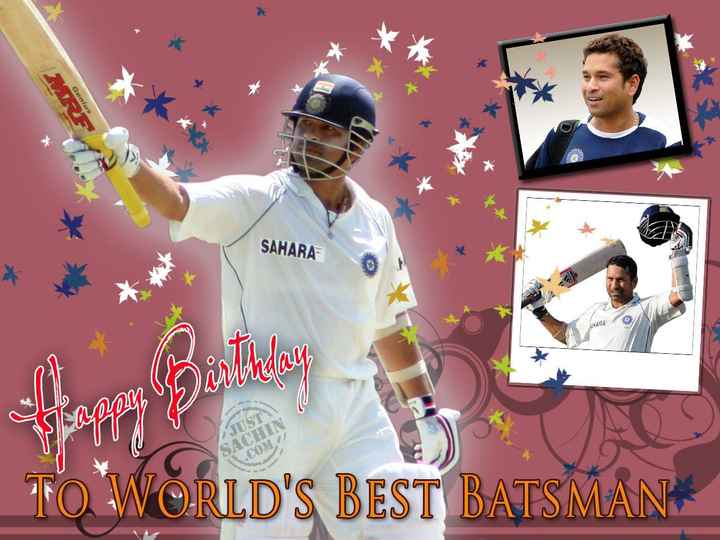 🎂 सचिन तेंदुलकर बर्थडे - Genius 2 ye SAHARA UWIRA ANU TO WORLD ' S BEST BATSMAN - ShareChat