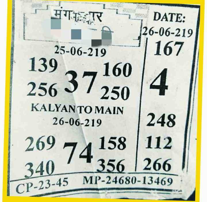 💵सट्टा मटका - FITETS DATE : 26 - 06 - 219 167 25 - 06 - 219 139 160 256 37 250 KALYAN TO MAIN 26 - 06 - 219 248 269 74 158 112 340 1 * 356 266 CP - 23 - 45 MP - 24680 - 13469 - ShareChat