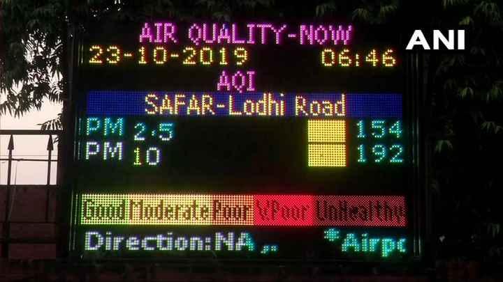 📰 समाचार एवं न्यूज़ पेपर क्लिप - AIR QUALITY - NOW ANI SAFAR - Lodhi Road 154 Good Moderate Poor Poor Unhealthy Direction : NA - ShareChat