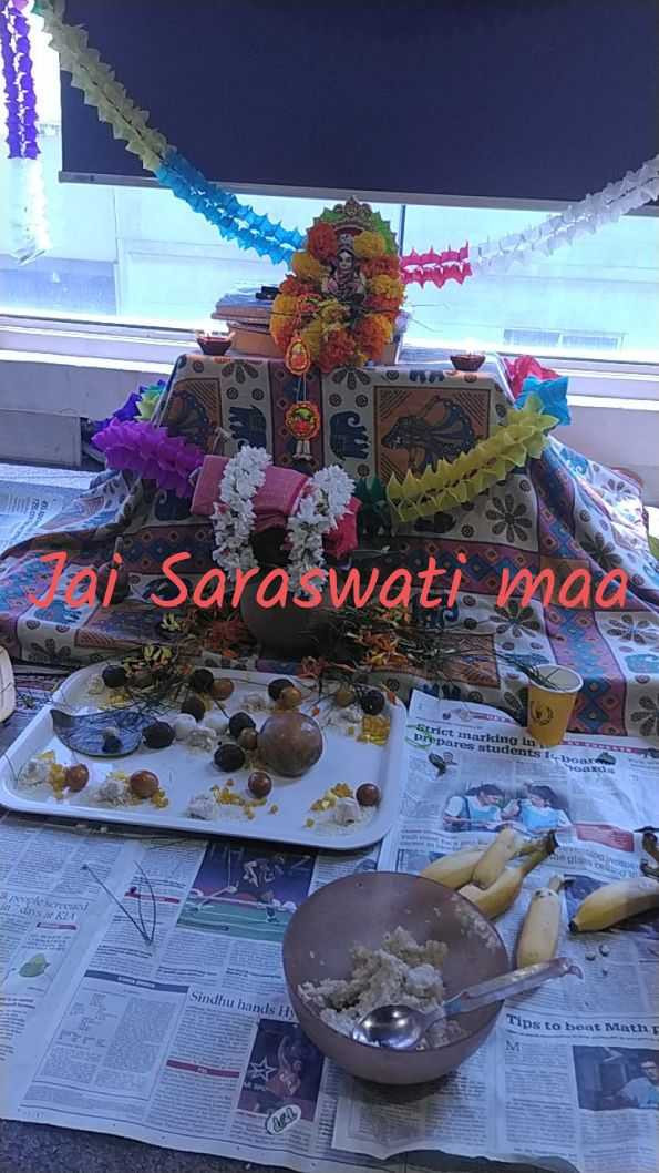 🙏 सरस्वती पूजा - i Saraswati mad Strict marking in Drepares students ID Sindhu hands H ) Tips to beat Math - ShareChat