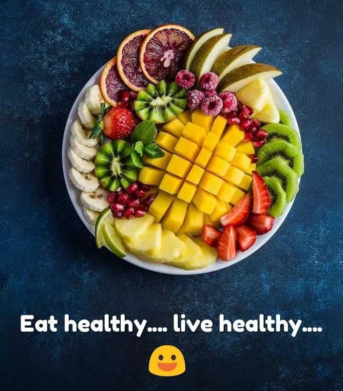 🥗सात्विक आहार दिवस - Eat healthy . . . . live healthy . . . . - ShareChat