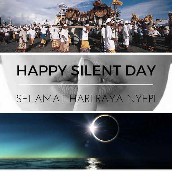 🤐सायलेंट डे - HAPPY SILENT DAY SELAMAT HARI RAYA NYEPI - ShareChat