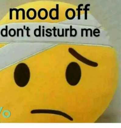 🕴 सिंगल लाइफ बेस्ट लाइफ - mood off don ' t disturb me - ShareChat