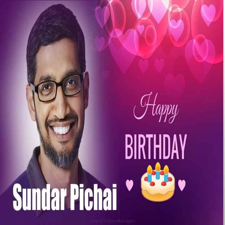 🎂सुंदर पिचाई बर्थडे - Happy BIRTHDAY Sundar Pichai www . birthday wishes . expert - ShareChat