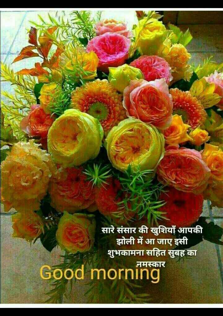 🌄सुप्रभात - सारे संसार की खुशियाँ आपकी झोली में आ जाए इसी शुभकामना सहित सुबह का नमस्कार Good morning - ShareChat