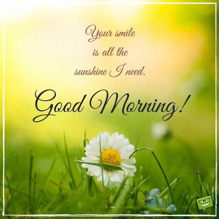 🌄  सुप्रभात - Your smile is all the sunshine I need . Good Morning - ShareChat