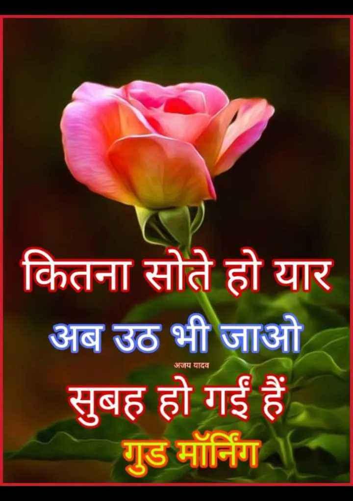 🌄  सुप्रभात - कितना सोते हो यार अब उठ भी जाओ सुबह हो गईं हैं गुड मॉर्निग । । अजय यादव - ShareChat