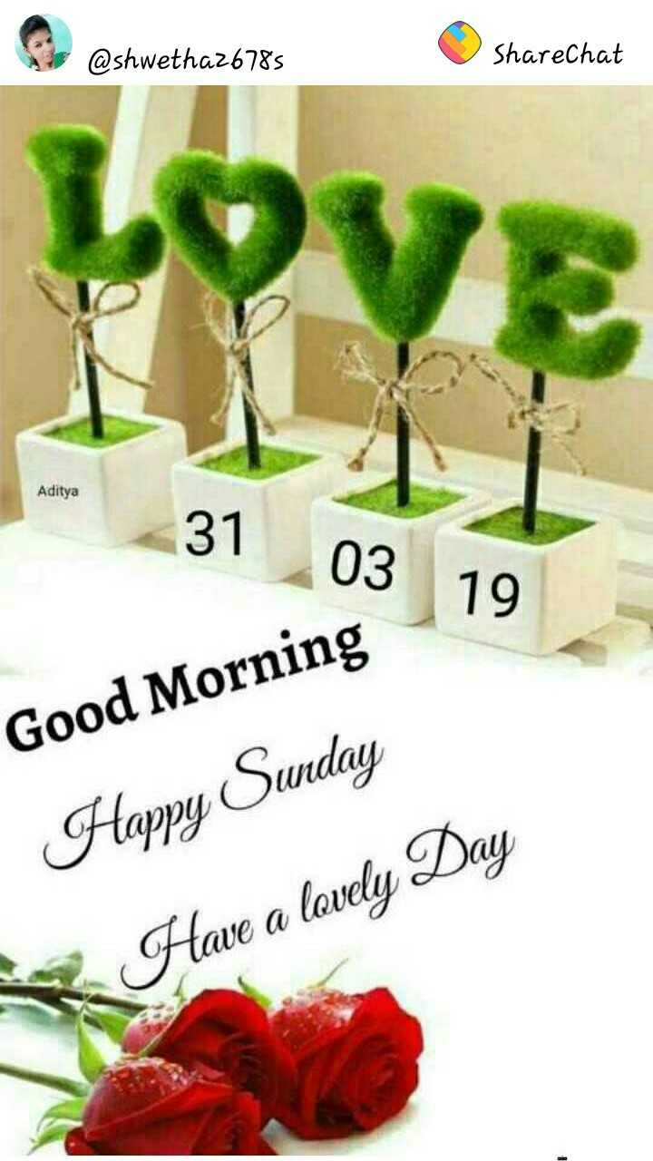 🌞सुप्रभात🌞 - @ shwetha26785 ShareChat Aditya 31 03 19 Good Morning Happy Sunday Have a lovely Day - ShareChat