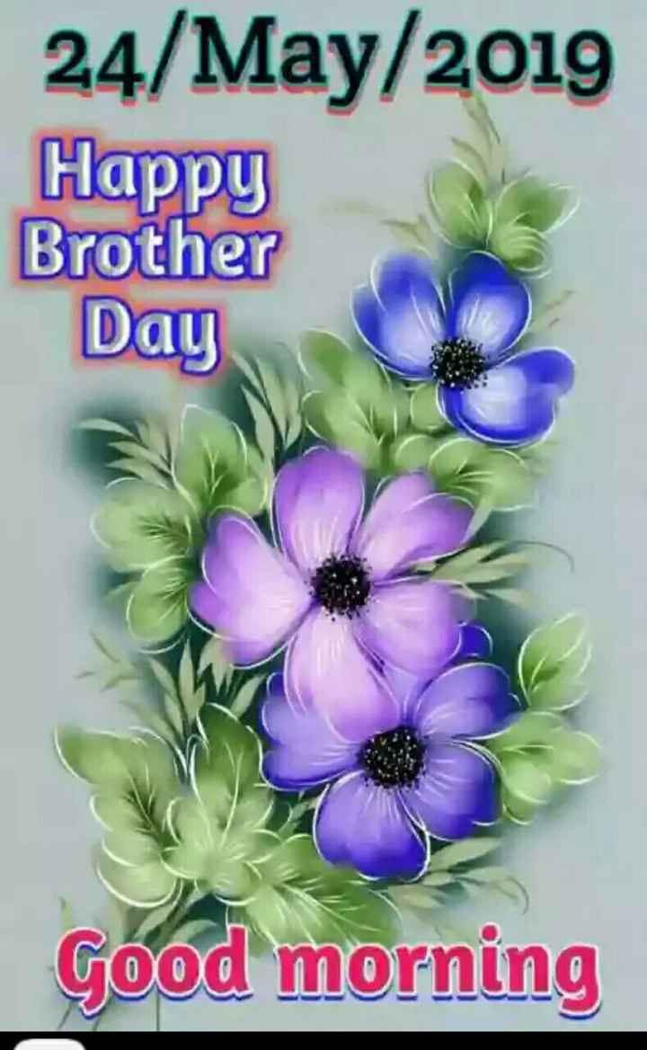 🌞सुप्रभात🌞 - 24 / May / 2019 Happy Brother Day Good morning - ShareChat