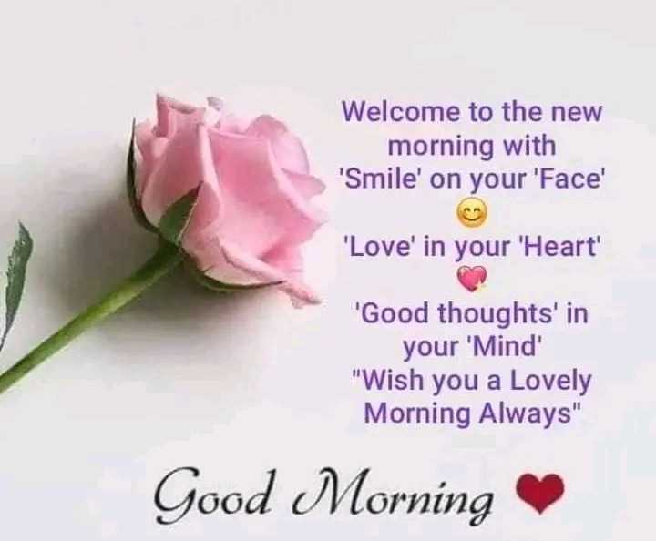 🌄सुप्रभात - Welcome to the new morning with ' Smile ' on your ' Face ' Love ' in your ' Heart ' ' Good thoughts ' in your ' Mind Wish you a Lovely Morning Always Good Morning - ShareChat