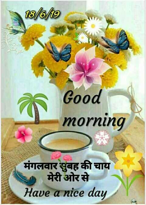 🌄  सुप्रभात - 66 / to Good morning मंगलवार सुबह की चाय मेरी ओर से Have a nice day - ShareChat