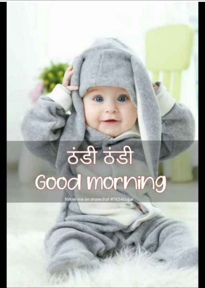 🌄  सुप्रभात - ਠੰਡੀ ਠੰਡੀ Good morning follow me on sharechat # 7634Gujjor . - ShareChat