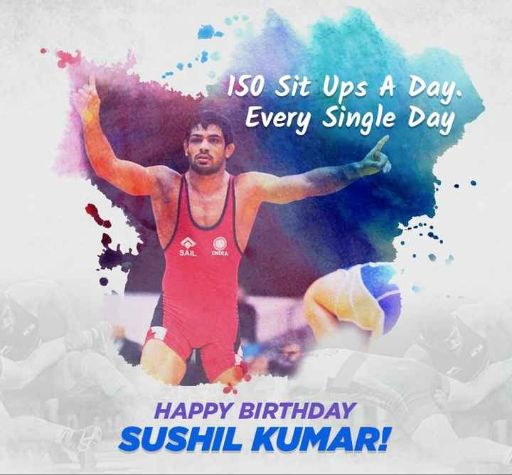🎂सुशील कुमार शिंदे बर्थडे - | 150 Sit Ups A Day Every Single Day SAIL INDLA HAPPY BIRTHDAY SUSHIL KUMAR ! - ShareChat