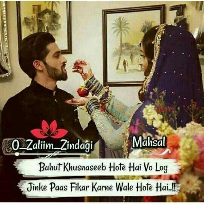 🕌सेहरी - CO _ Zalim _ Zindagi Mahsal Bahut Khusnaseeb Hote Hai Vo Log Jinke Paas Fikar Karne Wale Hote Hai . ll - ShareChat