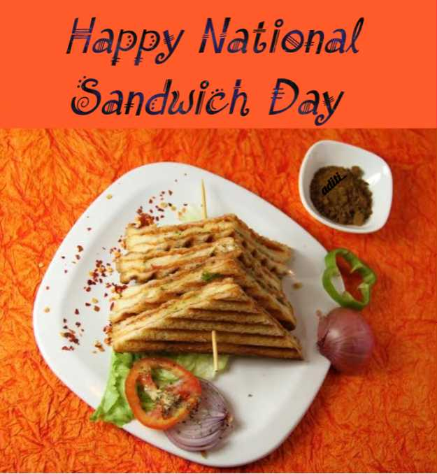 🥪सैंडविच डे - Happy National Sanduich Day adil - ShareChat