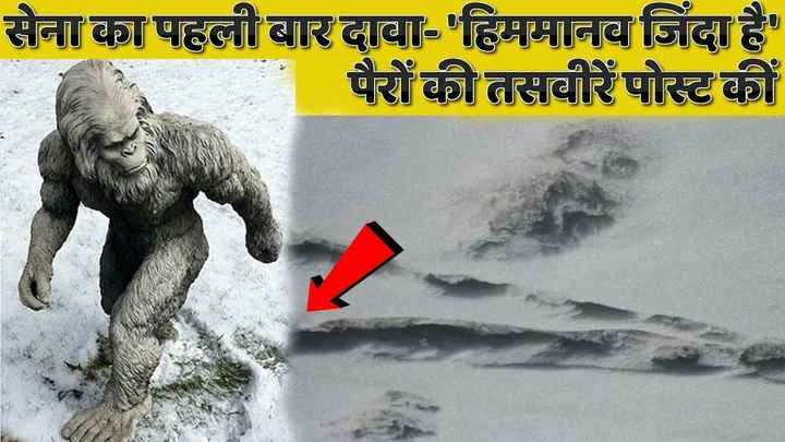 🥶हिमालयात हिममानव? - सेना का पहली बार दावा - ' हिममानव जिंदा है ' पैरों की तसवीरें पोस्ट कीं - ShareChat