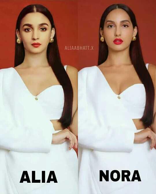 🤩हीरो हेरोईन👫 - ALIAABHATT . X ALIA NORA - ShareChat