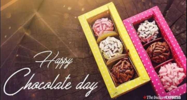 🍫हैप्पी चॉकलेट डे - Chocolate day The IndiarrEXPRESS - ShareChat