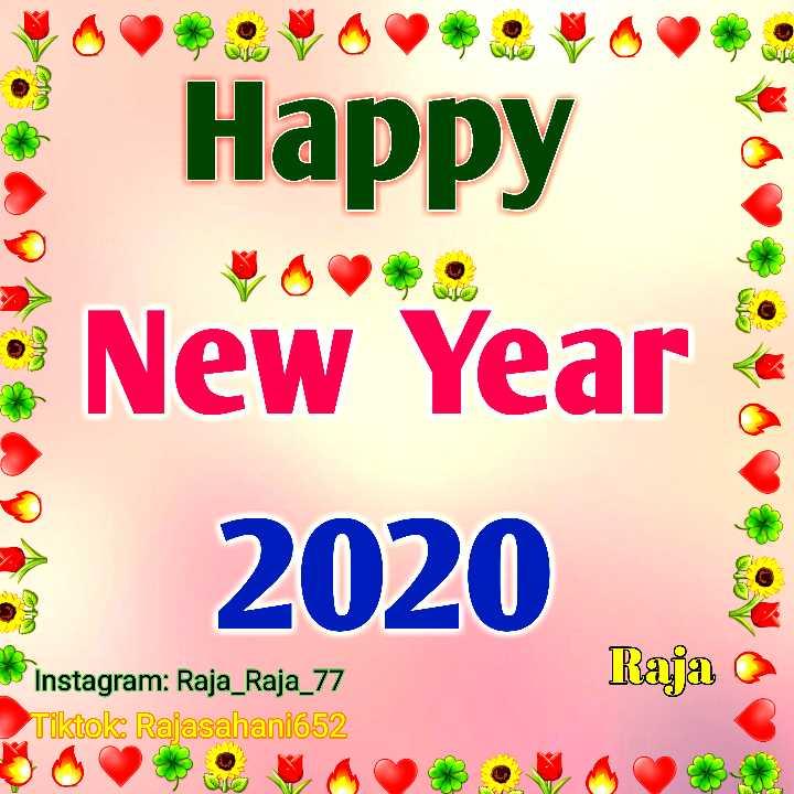 🎉 हैप्पी न्यू ईयर 2020 - A 9 ; Happy New Year 2020 Instagram : Raja _ Raja _ 77 Tiktok Rajasahani652 Raja - ShareChat