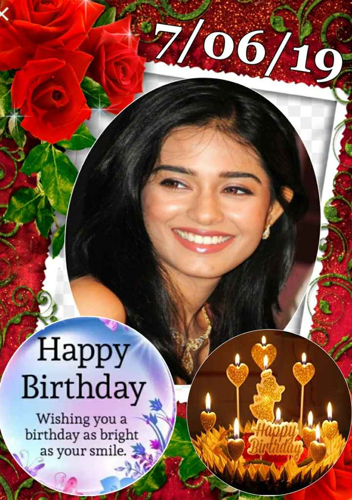 🎂 हैप्पी बर्थडे अमृता राव - 7 / 06 / 19 Happy Birthday Wishing you a birthday as bright as your smile . - ShareChat
