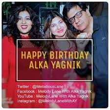 🎂 हैप्पी बर्थडे अलका याग्निक 💐 - HAPPY BIRTHDAY ALKA YAGNIK Twitter : @ Melodious Lane Facebook : Melody Lane With Alka Yagnik YouTube : MelodyLane With Alka Yagnik Instagram : MelodyLane WithAY - ShareChat