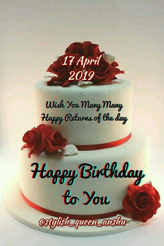 🎂हैप्पी बर्थडे विक्रम - 17 April 2019 Wish You Many Many Happy Returns of the day Happy Birthday to You estylish _ queen anshu - ShareChat