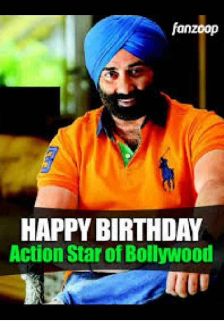 🎂 हैप्पी बर्थडे सनी देओल - fanzoop HAPPY BIRTHDAY Action Star of Bollywood - ShareChat