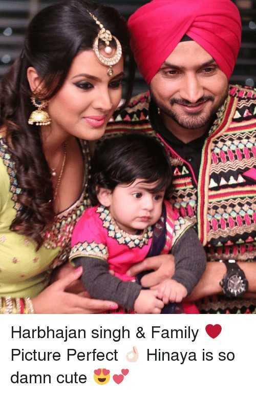 🎂 हैप्पी बर्थडे हरभजन सिंह - Harbhajan singh & Family Picture Perfect Hinaya is so damn cute - ShareChat