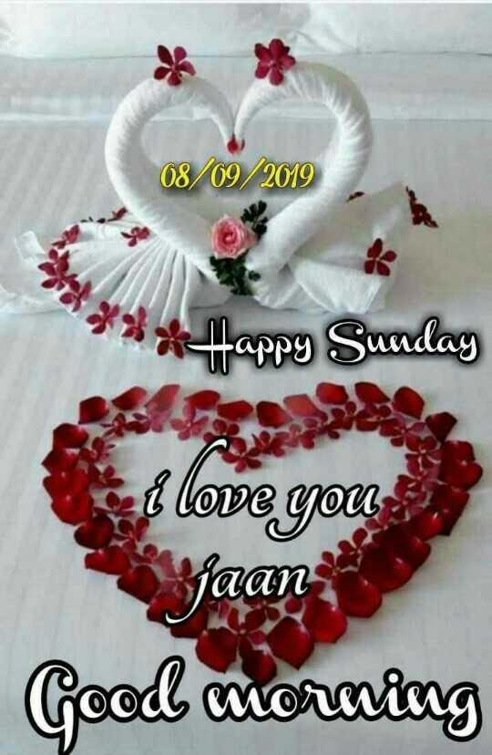हैप्पी सन्डे - 08 / 09 / 2019 * * * Happy Sunday i love you jaan Good morning - ShareChat