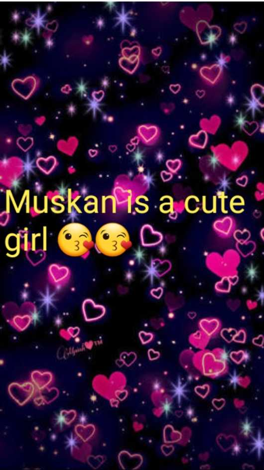 🥰होली नेम आर्ट - Muskanis a cute girl OCD - ShareChat