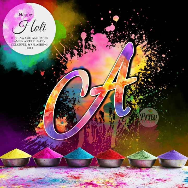 🥰होली नेम आर्ट - Happy Holi WISHING YOU AND YOUR FAMILY A VERY HAPPY COLORFUL & SPLASHING HOLI - ShareChat