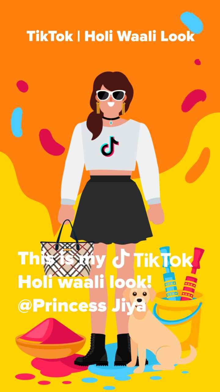 होली फ़ैशन - | Holi Waali Look Think my J Tiktok ? Holi Waali look ! @ Princess Jiya A . - ShareChat