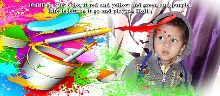 🌈होळी comming soon - Letit go , just color it red and yellow and green and purple . Life is letting it go and playing Holi ! - ShareChat