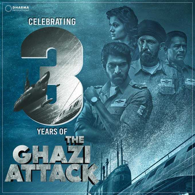 🚢ग़ाज़ी अटैक के 3 साल - DHARMA PRODUCTIONS CELEBRATING YEARS OF - ShareChat