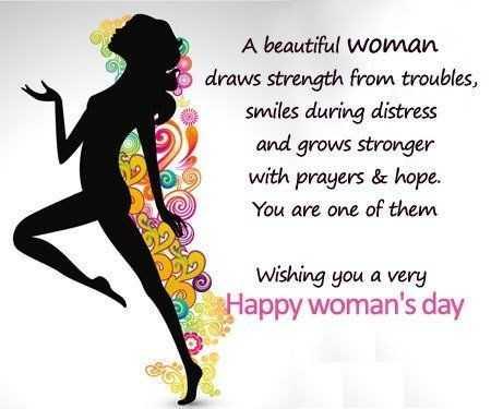 আন্তর্জাতিক নারী দিবস - A beautiful woman B draws strength from troubles , smiles during distress and grows stronger with prayers & hope . You are one of them Wishing you a very Happy woman ' s day - ShareChat