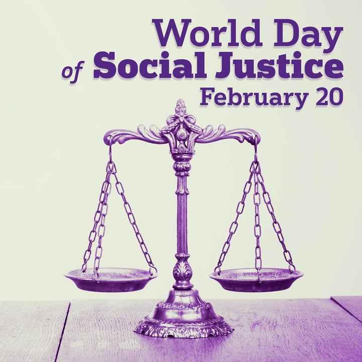 আন্তর্জাতিক ন্যায় বিচার দিবস  👍 - World Day of Social Justice February 20 OU G orenc - ShareChat
