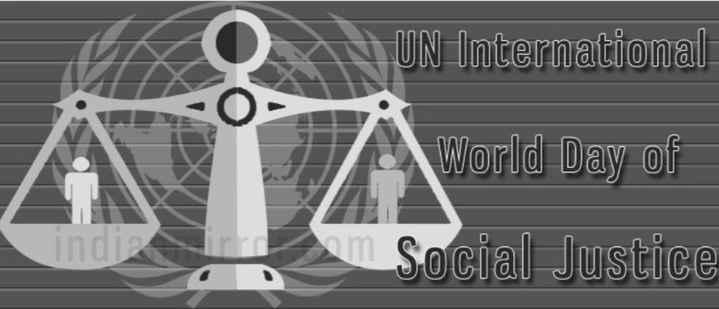 আন্তর্জাতিক ন্যায় বিচার দিবস - A UN International World Day of Social Justice - ShareChat