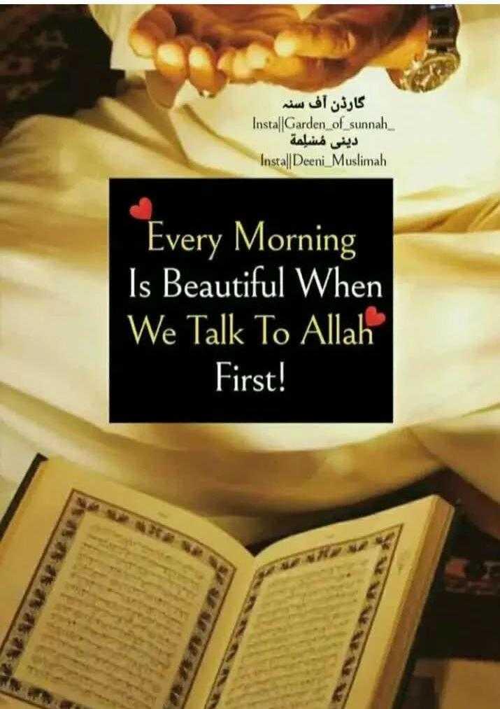আল্লাহ 👆 - گارڈن آف سٹہ Instal Garden of sunnah دینی مسلمة Install Deeni Muslimah Every Morning Is Beautiful When We Talk To Allah First ! U - ShareChat