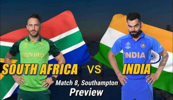 ইন্ডিয়া vs সাউথ আফ্রিকা  LIVE - SOUTH AFRICA SOUTH AFRICA vs INDIA INDIA Match 8 , Southampton Preview - ShareChat
