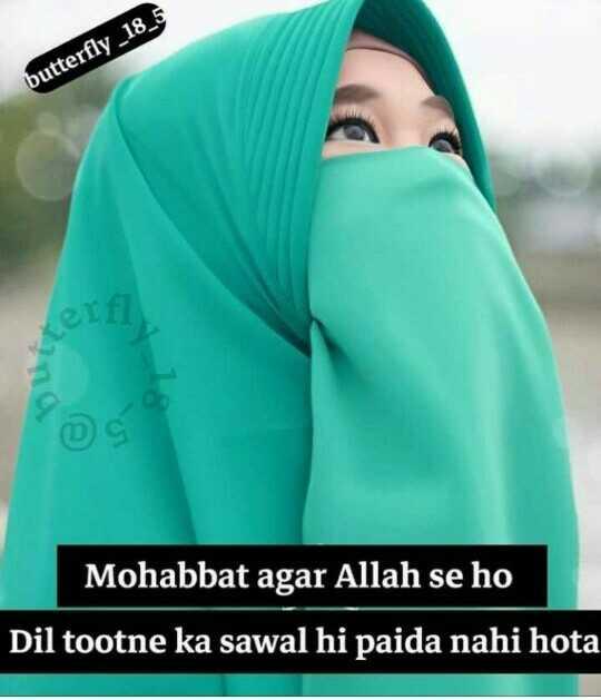 🕌ইবাদাত - butterfly _ 18 _ 5 Mohabbat agar Allah se ho Dil tootne ka sawal hi paida nahi hota - ShareChat