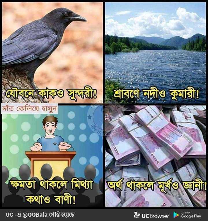 📚উপদেশ - শ্রাবণে নদীও কুমারী ! দাঁত কেলিয়ে হাসুন ন ক্ষমতা থাকলে মিথ্যা অর্থথাকভৌমূর্খও জ্ঞানী । কথাও বাণী ! Uc - এ @ QQBala পোষ্ট হয়েছে & UCBrowser Google Play - ShareChat