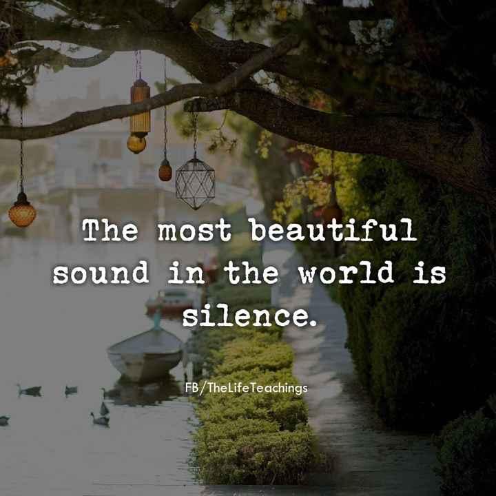 📚উপদেশ - The most beautiful sound in the world is silence . FB / TheLife Teachings - ShareChat
