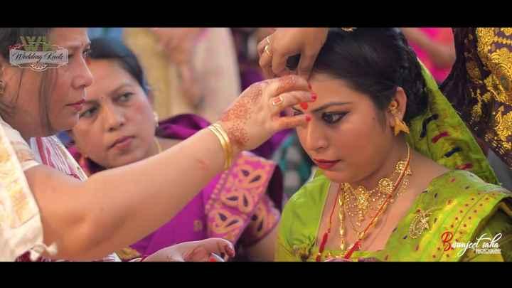 কইনাৰ মেকআপ আৰু সা-সজ্জা - BE Wedding Knots wajee sana PHOTOGRAPHY - ShareChat